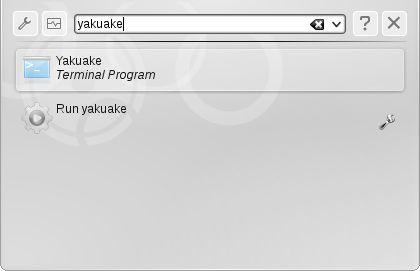 Run command Yakuake
